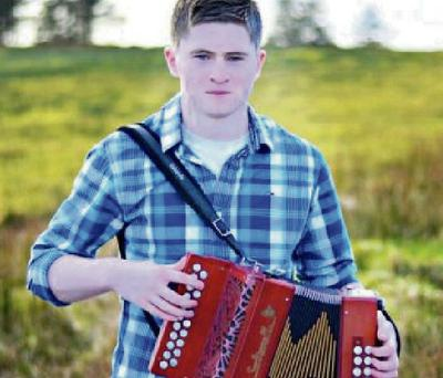 Accordionist Bryan O'Leary from Tureencahill.