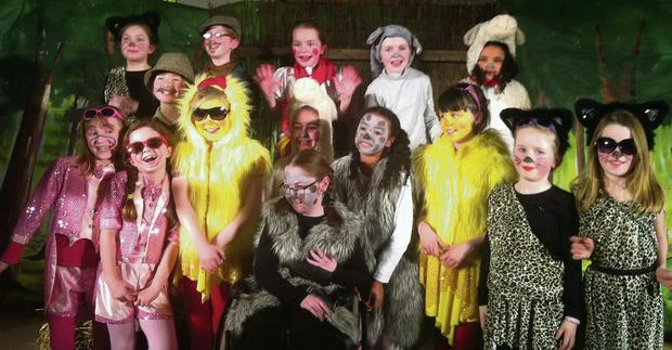 The cast of 'Little Red Hen' at Centre Stage School.