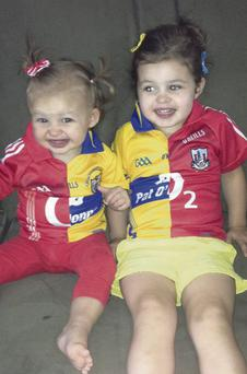 Eva and Ruby Lillis are trying to keep both their parents happy in the run-up to the All Ireland hurling final on Saturday