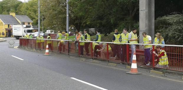 The 'Litter Angels' working hard on Saturday morning.