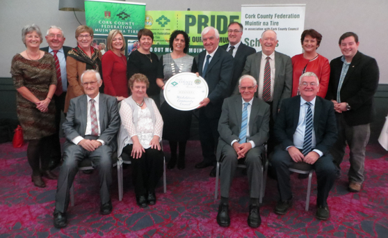 Cllr. Mary Rose Desmond presenting Mitchelstown Community Council with the main award in the Muintir na Tíre 'Pride in Our Community' Awards Night held recently in the Oriel House, Ballincollig. Well done to all groups involved.