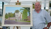Millstreet Artist Bertie Buckley pictured with one of his many creations