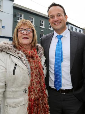 Local lady Catherine O'Neill met An Taoiseach Leo Varadkar during his visit to Mallow