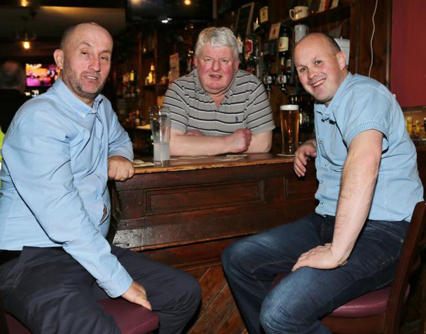 Dan McAuliffe, Michael Scanlon and Barry O'Leary all set to ring in the New Year at Scanlon's Bar in Newmarket