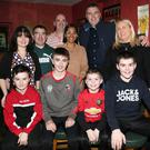 Anna, Mick, Ciaran and Eoin Lynch, Deirdre, Ollie, Daragh and Aidan Clifford, Tim Barrow and Anna Cebeda enjoying the New Year's Eve Party at Scanlon's Bar in Newmarket