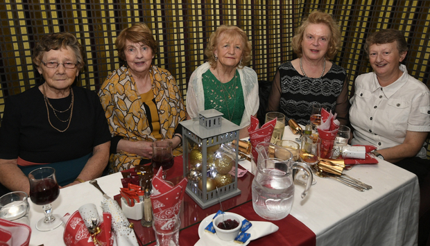 Enjoying the Millstreet Party marking Ladies Night Out were Mary Hickey, Maureen Buckley, Kathleen Kelleher, Millstreet; Agnes Broe O'Keeffe, Rathmore and Theresa Kelleher, Cullen. Picture John Tarrant