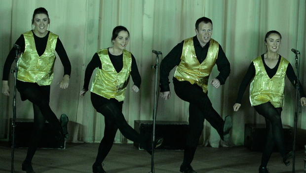 Fancy footwork from the Freemount production in the All-Ireland Macra Capers Final
