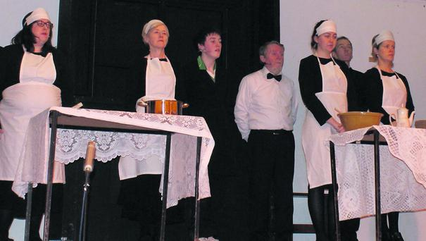 Dress rehearsal for Downton Abbey - The Musical in Coachford.