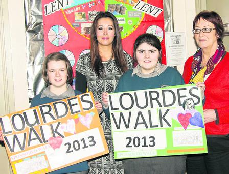 Irene Murphy, Teacher Carol Warren, Caitriona O'Donoghue & Teacher Cait Clifford. Picture: John Delea.
