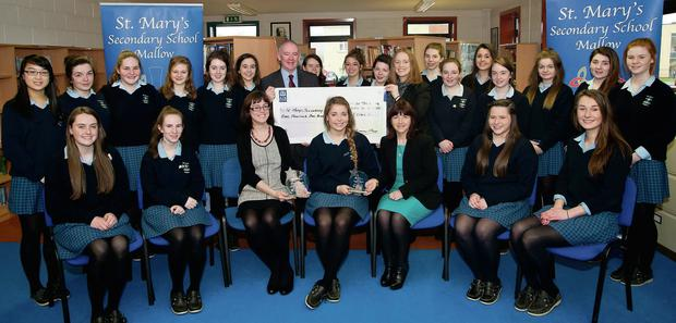 Pupils from St Mary's Seconday School, Mallow, who will compete in the National Finals of the Schools Enterprise Programme in Croke Park.