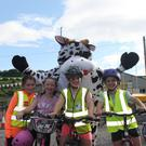 Allie O'Keeffe, Ellie Ryan, Lauren Sheehan and Chloe Savage enjoying the first Lombardstown Community Council Family Fun Cycle.