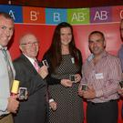 Award recipients John Lyons, Mitchelstown, James Fleming, Cappoquin, Michelle Kenneally, Lismore, John O'Callaghan, Kildinan and John O'Connor, Watergrasshill. Pictured at the Irish Blood Transfusion Service Munster Donor Awards Ceremony at the Rochestown Park Hotel, Cork