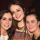 Emily O'Connor and Kaste Sheahan from Freemount and Aishling O'Riordan from Banteer pictured at the Dead Prezident's disco at Safaris Nightclub Newmarket