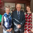Pictured at the opening of Deasys Pharmacy, Macroom was original owner Jack Keirns with his wife Ina and daughter Terry