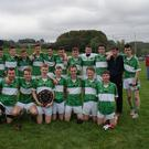 The Aghabullogue Under-16 footballers who captured the East Region League Final, defeating Aghinagh in the final on Sunday