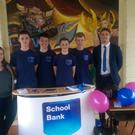 At the launch of the Patrician Academy School bank was Aidan Walsh, who was Bank of Ireland's special guest. Also pictured (from left to right): Louise Luddy , Kristopher Dunne, Colin O' Hare, James O' Hanlon and Adam Lucey