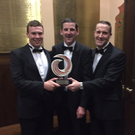 Michael Deane, Patrick Buckley and Declan O'Riordan of EPS Group Mallow at the SEI awards ceremony in Dublin last Thursday. EPS won the SEI Leadership prize after helping voluntary groups secure over €2million for energy projects