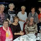 Photographed at the Inniscarra-Ballincollig ICA 80th Anniversary Dinner were: (seated) May Hill, Doreen Kelleher, Teresa Joyce and Madeline Sexton; and (standing) Jenny Delea, Janet de Groot, Josephine O'Shea, Sue Cahalane and Megan Heffernan. Picture: Mike English
