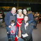 Mrs Claus with Ger and Christine McNamara and Kieran (4) and Aoife (8) at Shannon Airport all set for the Shannon Airport Ryanair Santa Flghts 2015 on Sunday