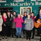 Members of the Millstreet Community Singers welcomed in 2016 at a get together at McCarthy's Bar, The Square. Picture John Tarrant