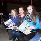 Anna Duggan, Michaela Sheehan and Rebecca O'Mahony, students at Colaiste Cholim Ballincollig at the CIT Engineer Roadshow in the Nexus Centre, CIT