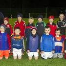 The Charleville under-8 soccer team in training at the Charleville Community Sports Complex all-weather pitch last week
