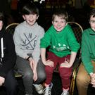 St. Colman's Kanturk 5th Class pupils Paul O' Sullivan, Kallum Young, Liam Breen and Jack Quirke at the Ballygown NS quiz, which was held at the Mallow GAA Sports Complex. Photo by Sheila Fitzgerald