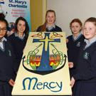 Students from St. Mary's Secondary School, Saffa Arif, Niamh O'Toole, Ciara Sheehy, Erin Queally and Nicole Ryan Butler celebrated Catholic Schools Week by researching Charleville' Holy Cross Parish in association with the local Parish Council.