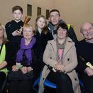 Cheering on Darren O'Mahony at the Kanturk Boxing Club staging in Mallow GAA Complex were Karen O'Mahony, Bridget Kenneally, Joan Sheahan, Michael O'Callaghan, Lewis O'Mahony, Louis O'Mahony and Ciara O'Mahony. Picture: John Tarrant