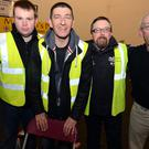 Stewards Jarleth O'Sullivan, Darren O'Mahony, Patrick Drumn and Denis O'Keeffe helped to co-ordinate the Kanturk Boxing Club staging in Mallow. Picture: John Tarrant