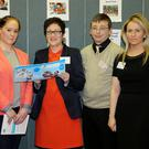 Donna Watson from Milford checking out the Childcare Course during the Open Evening at Mallow College with co-ordinators Ann Marie O' Brien and Marie O' Donovan, teacher Margaret Kennedy, and current student David O' Brien. Photo by Sheila Fitzgerald