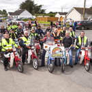 A group of Honda 50 owners pictured at the Liscarroll Honda 50 run for the Lisacrroll National School Autism Unit