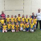Kilshannig Ladies Under8s before the first game of the year, against Araglendesmondsbui in Kilshannig GAA. Well done to both teams