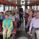 Members of Kilshannig Active Retirement Association on their way by boat to Sherkin Island on their recent tour of West Cork