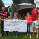 Cian O'Keeffe and Joe Twomey were the joint winners of the Banteer Lyre GAA 'Bullshit Fundraiser' competition on Sunday last