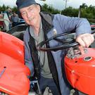 DJ Corbett, Ballydesmond, attends to his French-built Massey Ferguson tractor at the Cullen Vintage Day