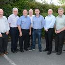 Pictured at the announcement of sponsorship by North Cork Co-Op for Duhallow in the Co. Senior Football Championship were: John McLoughlin, vice captain; Duhallow senior football side; Tony McAulliffe, Secretary, Duhallow GAA Board; Joe Kearns, Chairman; Dan Dennehy, Treasurer; Seán McAulliffe, Liason Officer; Ruairí Callaghan, Dairy Manager, North Cork Co Op; Pat Sheahan CEO North Cork Co-Op; Jerry Doody, Development Officer, Duhallow GAA Board; A J O'Connor, captain and Jackie Carroll