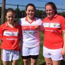 Aisling Healy, Emily O'Callaghan and Shauna Ring who represented Cork at the Under-17 All Ireland Blitz recently