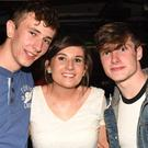 Kevin O'Connell, Niamh Murphy and Darragh Moynihan from Ballydesmond pictured at the weekend disco at Safari's Nightclub in Newmarket