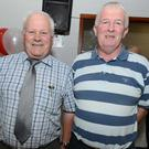 Frank Barry, Dromtariffe and John O'Mahony, Macroom supported the Cork GAA Clubs Draw
