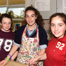 Katie Buckley, Alicia Fox and Niamh O'Brien pictured in the Home Economics class at St. Mary's Secondary School Open Evening