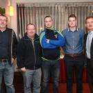 Pictured at the Rebel Óg Monthly Sports Awards were Kilshannig coaches: Pat O'Connell, Minor Football Trainer; John Geaney, Richie Ryan, Michael Twomey with Richard Murphy, Development Officer Cork GAA Board