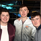 Gerard O'Hanlon, Rathcoole, Cathal Jones and Stephen Field, Lismore, enjoying a night out at the disco in Safaris, Newmarket