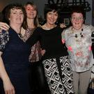 Lil Piggott, Anna Marie Looney, Kathleen Dennehy, Margaret Goulding and Mary Brosnan getting into the spirit of things during the Women's Christmas Party at the Fairfield Tavern in Knocknagree. Photo by Sheila Fitzgerald