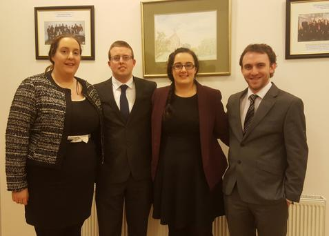 Donoughmore Macra's Debating team one made up of Elaine O'Connell, Francy Lyons, Meig Collins and Tom Carroll who have reached the National Quater-Final of Senior Debating after defeating Mitchelstown in the last round