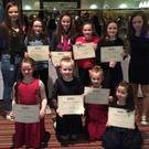 Some of the Under 8s and Under 10s with their certificates at the recent Kilshannig Ladies Football social