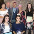 Liscarroll Athletic Club award winners at Mallow & District Sports Awards. Back row (L to R) Joe Ivory, Vickie Cusack, Tim Fitzpatrick, Robert Heffernan, Esther Fitzpatrick, Amy Whelan and Aoife O'Sullivan. Front row (L to R) Natasha O'Keeffe and Sarah O'Keeffe