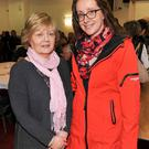 Helen O'Sullivan and Marie Sheehan, both Cork County Council, at the launch of Cork County Council's physical activity & wellbeing office in the Northern Division, at Mallow GAA Sports Complex