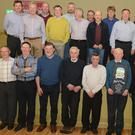 Member of Kilbrin GAA Hall of Fame Seán McAulliffe in the company of Kilbrin friends and associates