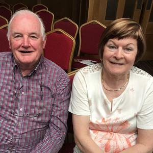 Derry and Doreen Murphy enjoying the Mourneabbey Ladies Football Club '€20k Drop' held in the Hibernian Hotel, Mallow on Friday night last. Photo: Anne Marie Ruby